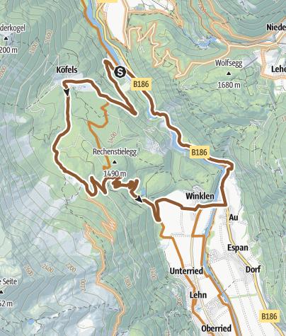 Map / Route - Round around Rechenstielegg (684)