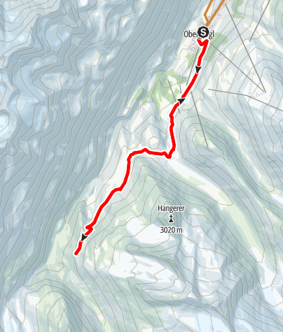 Map / Bike Route - Langtalereckhütte (11)