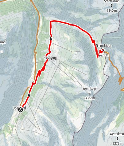 Map / Bikeroute Timmelsjoch