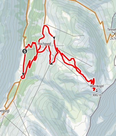 Karte / Biketour Hochgurgl - Wurmkogl (689)