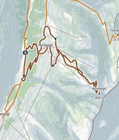 Map / Biketour Hochgurgl - Wurmkogl (689)