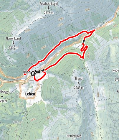 Karte / Biketour ins Grastal (663)
