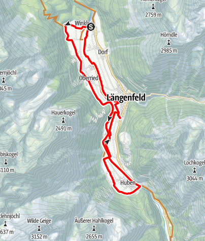 Map / Bike Route - Längenfelder Runde Loop (686)