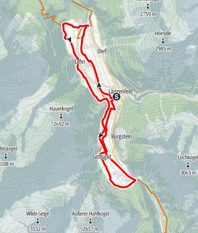 Karte / Biketour Längenfelder Runde (686)