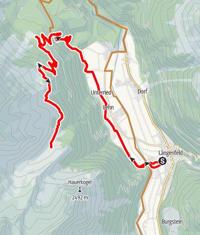 Karte / Biketour Wurzberg - Stabelealm - Innerberg Alm (636)