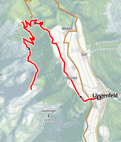 Map / Biketour Wurzberg - Stabelealm - Innerberg Alm (636)