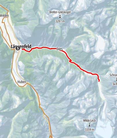 Map / Route Amberger Hütte (694)