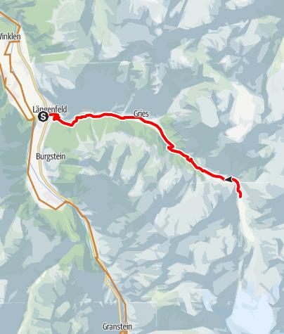 Karte / Biketour zur Amberger Hütte (694)
