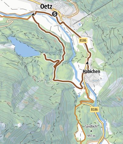 Map / Biketour Oetz - Habichen (690)
