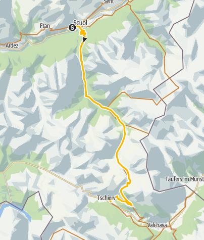 Map / 001.01 Alpine Bike Etappe 1 Scuol - Tschierv