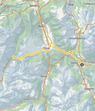 Map / 001.06 Alpine Bike Etappe 6 Tiefencastel - Safien Platz