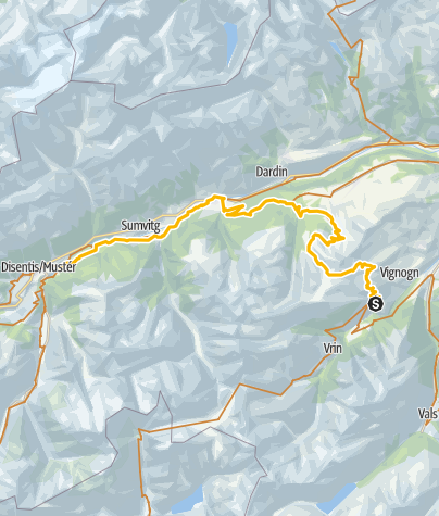 Map / 001.08 Alpine Bike Etappe 8 Lumbrein - Disentis