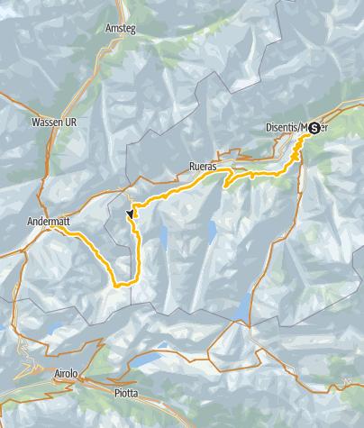 Map / 001.09 Alpine Bike Etappe 9 Disentis - Andermatt