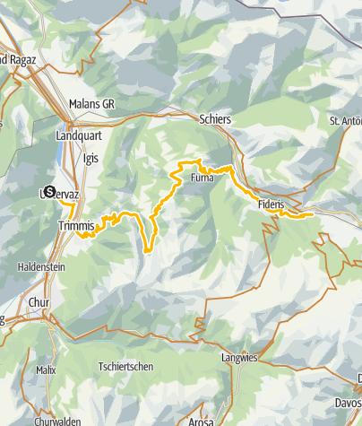 Map / 90.03 Graubünden Bike Etappe 3 Untervaz - Küblis