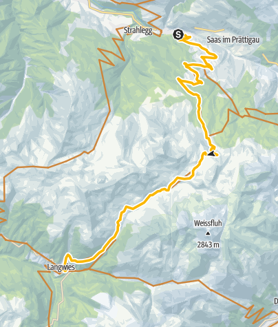 Map / 90.04 Graubünden Bike Etappe 4 Küblis - Langwies