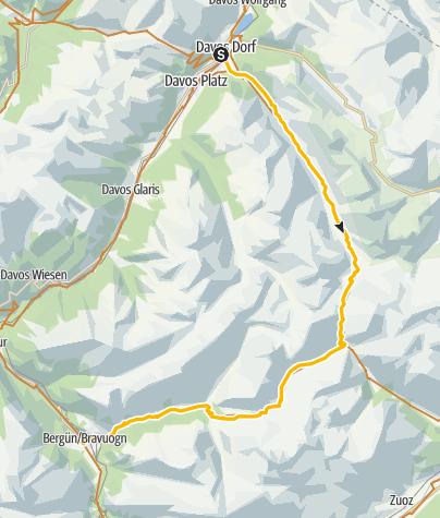 Map / 90.06 Graubünden Bike Etappe 6 Davos - Bergün
