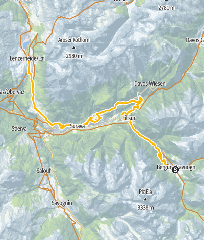 Map / 90.07 Graubünden Bike Etappe 7 Bergün - Lenzerheide