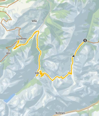 Map / 90.10 Graubünden Bike Etappe 10 Safien Platz - Lumbrein