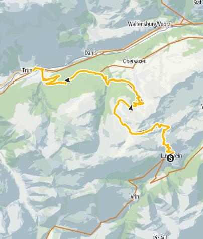 Map / 90.11 Graubünden Bike Etappe 11 Lumbrein - Trun