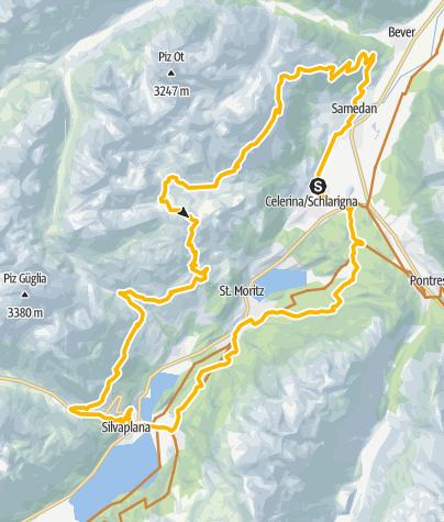 Map / 672 Padella - Corviglia - Panoramatour