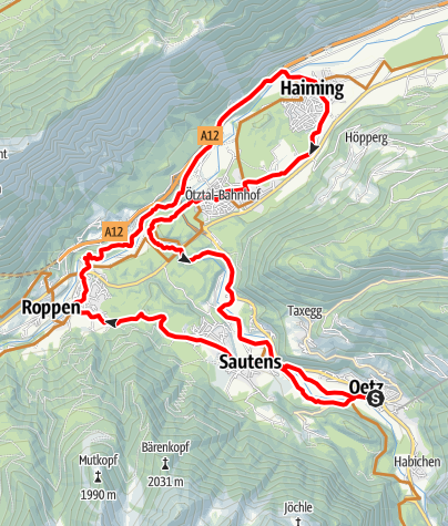Map / Bike Route - Tour of 5 Villages