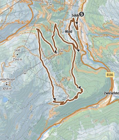 Map / Bike Route Gaislach (644)