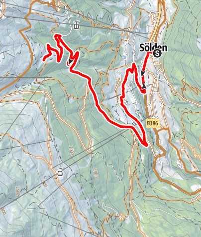 Map / Bike Route Gampe Alm (643)