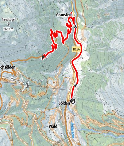 Karte / Biketour zur Leiterbergalm (645)