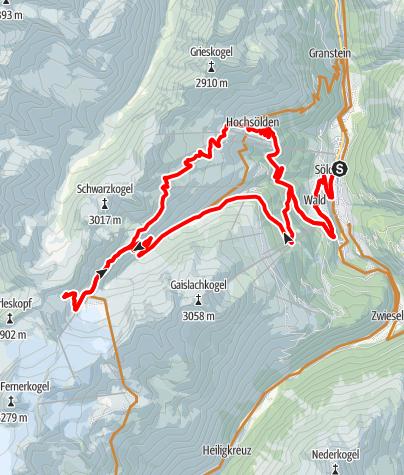 Karte / Biketour zum Gletscher Express (648)