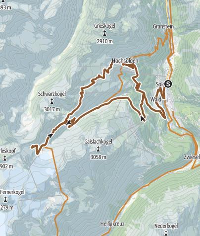 Map / Bike Route Gletscher Express (648)