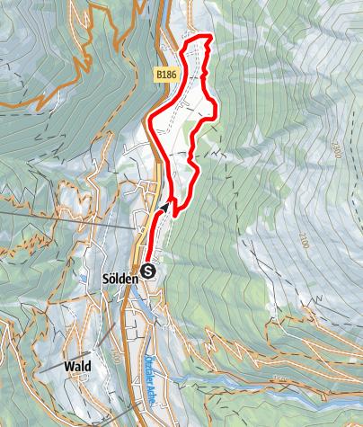 Karte / Biketour Forstweg Rechenau (649)