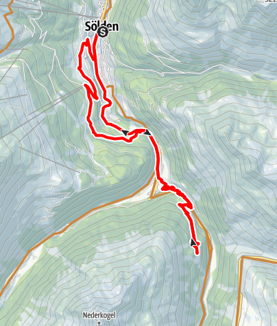 Karte / Biketour zur Lenzenalm (691)