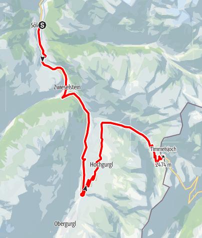 Karte / Rennradtour - Sölden - Timmelsjoch