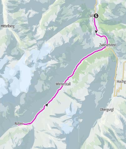 Map / Rennradtour -  Sölden - Vent & Rofen