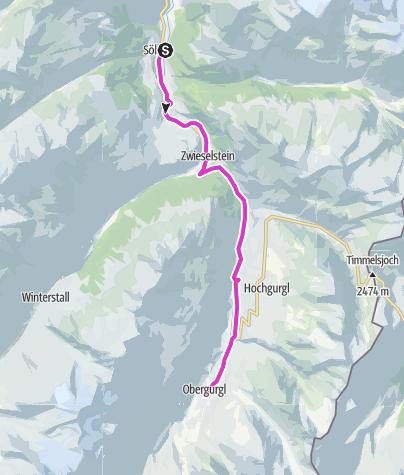 Map / Rennradtour - Sölden - Obergurgl