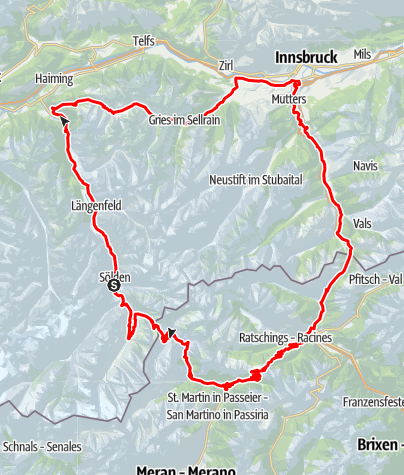 Map / Course - Ötztal Cycle Marathon