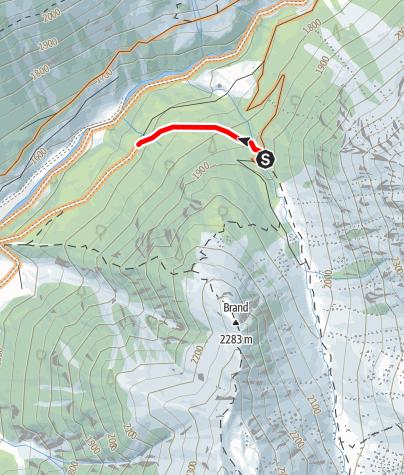 Karte / Biketour Stoarumplar (Singletrail)