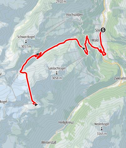 Karte / Rennradtour - Sölden - Tiefenbachgletscher