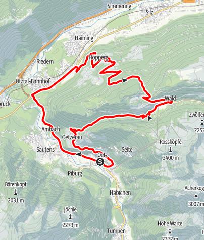 Karte / Rennradtour - Oetz - Haimingerberg Runde