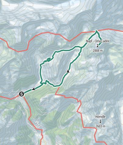 Karte / Eisbruggsee und Napf Spitze - Rundtour in den Pfunderer Bergen