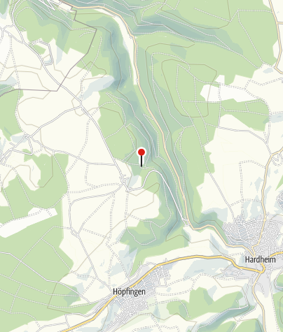 Karte / Kappel - Ruine der ehemaligen  Einsiedelei-Kapelle im Erfatal bei Hardheim
