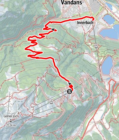 Karte / Von Matschwitz über Ganeu nach Vandans