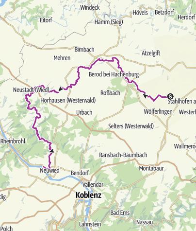 Karte / Wied-Radweg