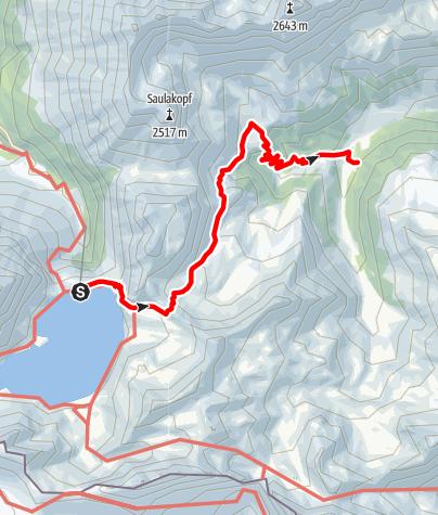 Karte / Vom Lünersee über die Lünerkrinne ins Rellstal