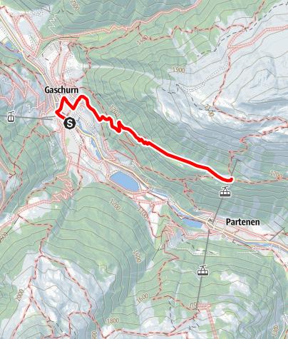 Karte / Gaschurn - Tafamuntmaisäß