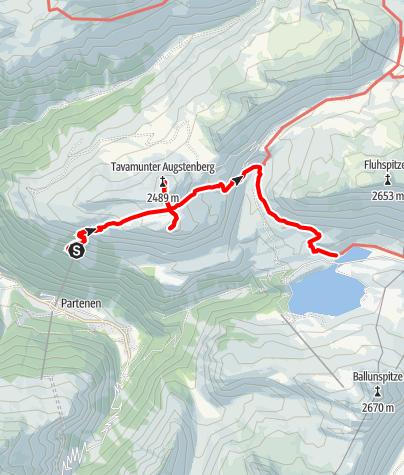 Karte / Von Tafamunt zur Versalspitze