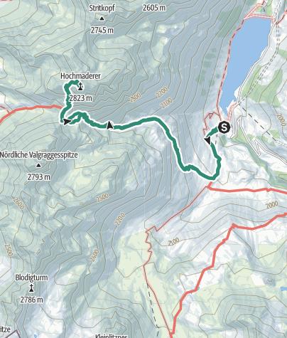 Karte / Hochmaderer (2.823m)
