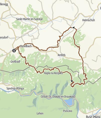 Steiermark Karte Flüsse.St Pongratzen Svetij Duh Mountainbike Outdooractive Com