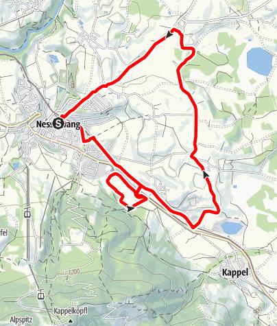 Karte / Viertelmarathon