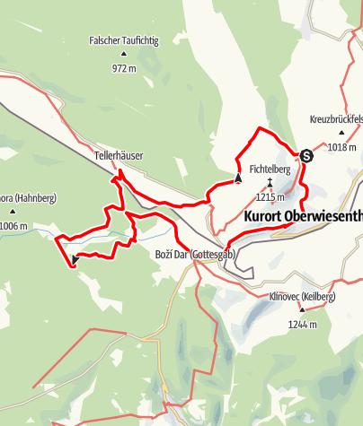 Karte / Jens-Weißflog-Tour (Oberwiesenthal)
